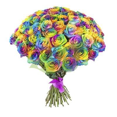 Радужные розы купить в саратове вырезаем цветы из бумаги для декора комнаты или праздника